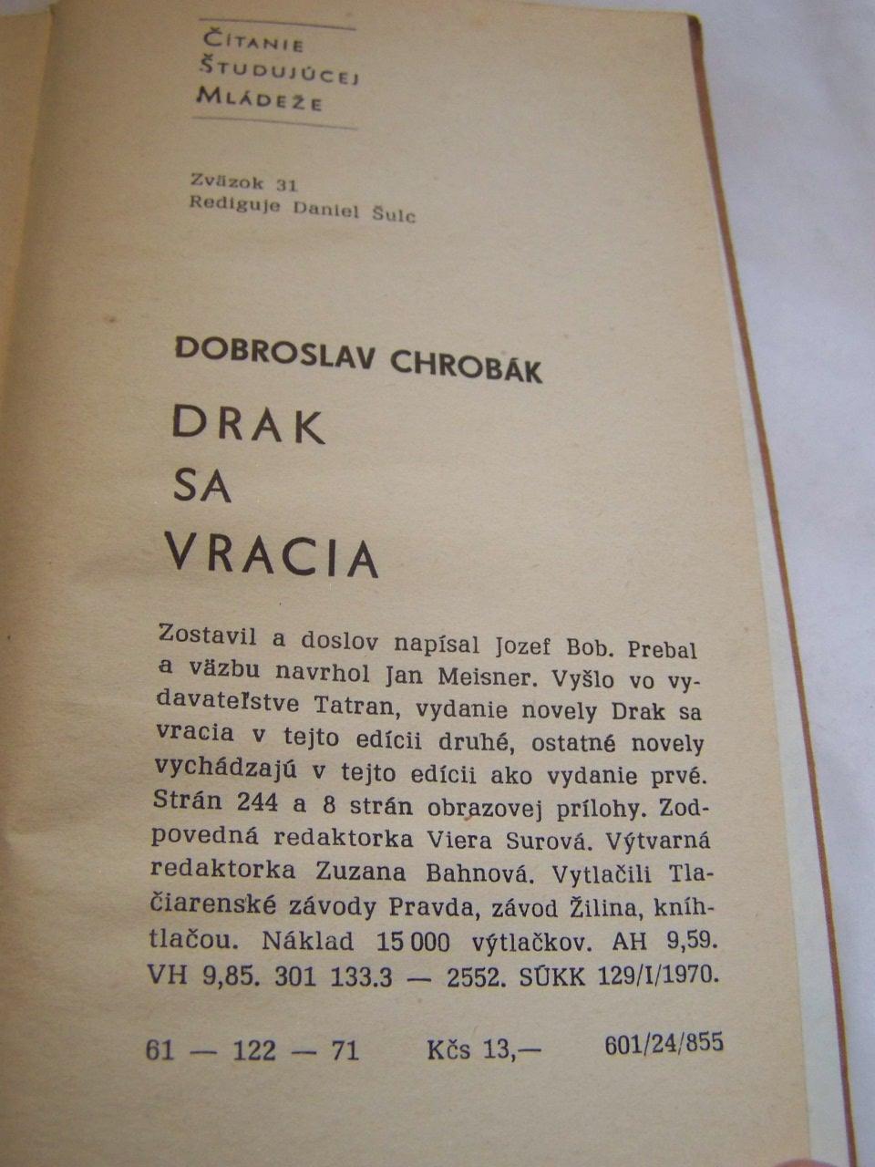 drak sa vracia kniha